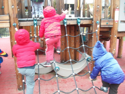 Refining Gross Motor Skills on the Preschool Climber