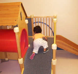 Excercising in the Infant/Toddler Gym