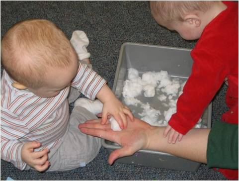 Sensory Play with Snow